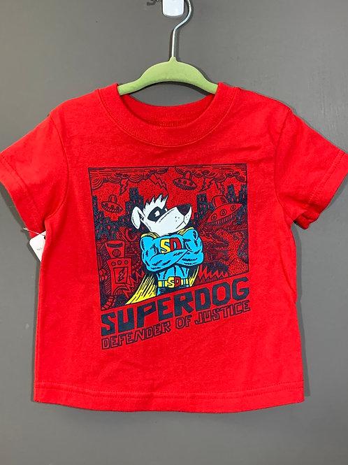 Size 12m GARANIMALS Red Super Dog T-shirt, Used