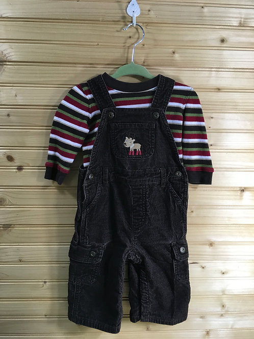 Size 6-12m GYMBOREE Brown Corduroy Reindeer Outfit