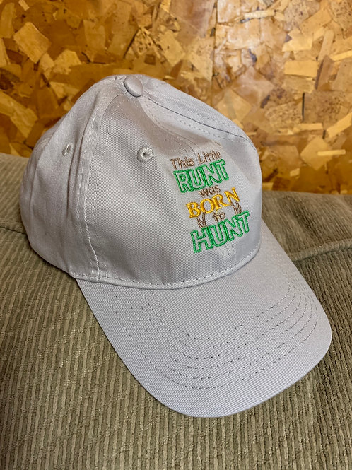 New Youth Baseball Hat - Runt Born to Hunt
