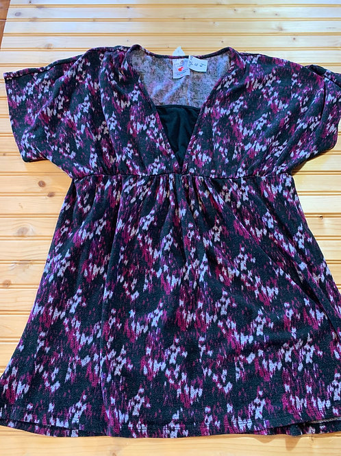 Size XL Maternity Black and purple Top