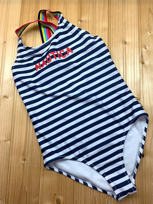 Size 8/10 NAUTICA Striped Swimsuit