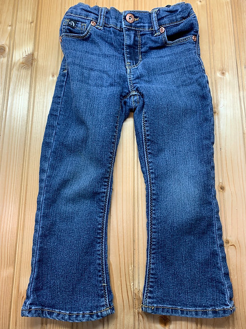 Size 3T JORDACHE Bootcut Jeans with Pink Stitch