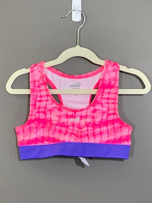 Size 7/8 Kids AVIA Pink and Purple Sports Bra, Used