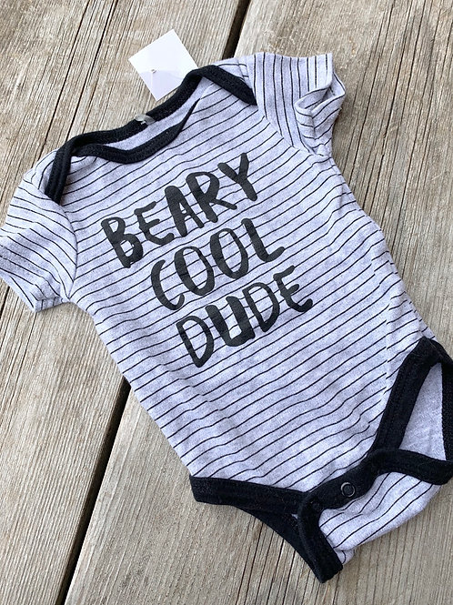 Size 0-3m Beary Cool Dude Onesie