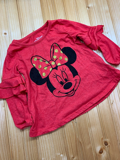Size 2T DISNEY Red and Gold Minnie Mouse Top