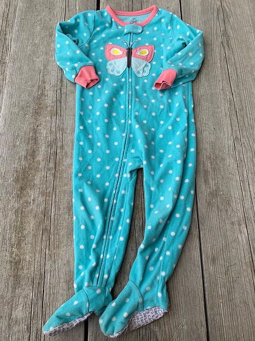 Size 24m CARTER'S Blue Fleece Footie PJs