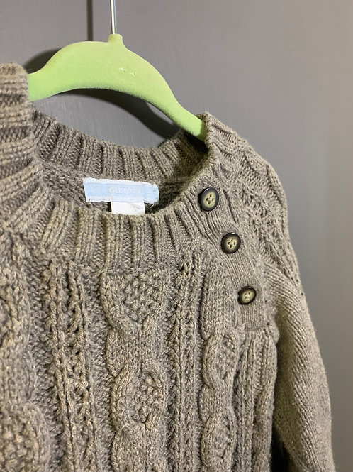 Size 12-18m OLD NAVY Light Brown Cable Knit Sweater