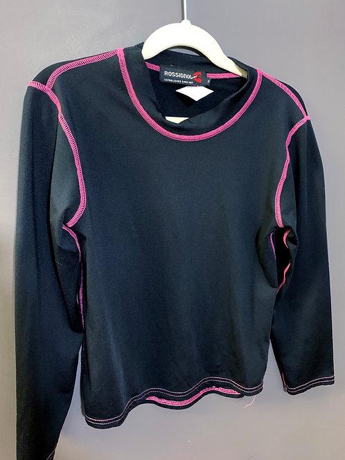 Size 8 ROSSIGNOL Black Underlayer Shirt