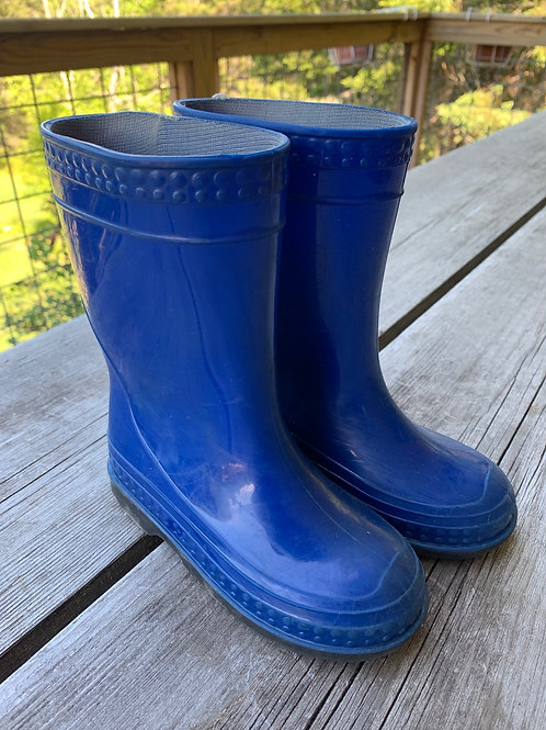 Size 10 Kids Blue Mud Boots