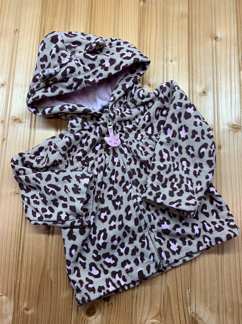 Size 9m CARTER'S Pink Cheetah Fleece Hoodie