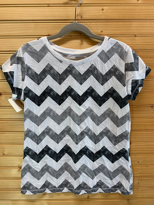Size 14 Kids ARIZONA Grey Zig Zag Top, Used