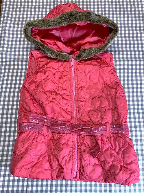 Size 2T Pink Hoodie Vest