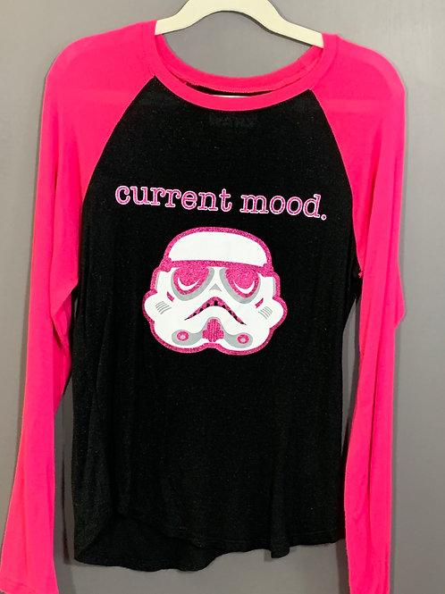 Size 7/8 Kids STAR WARS Pink Storm Trooper Shirt, Used
