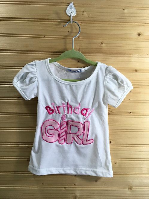 Size 90 (12m) AEBAI Birthday Girl Shirt