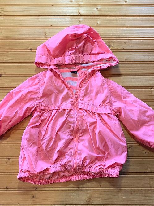 Size 12-18m BABY GAP Pink Windbreaker, Used