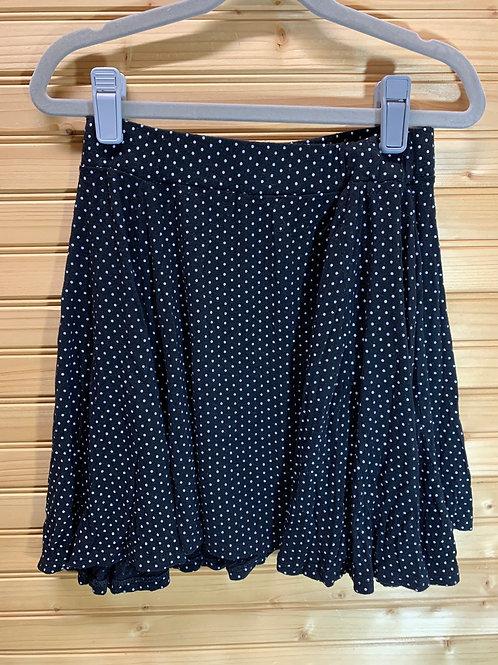 Size S ARDENE Black Polkadot Skirt, Used