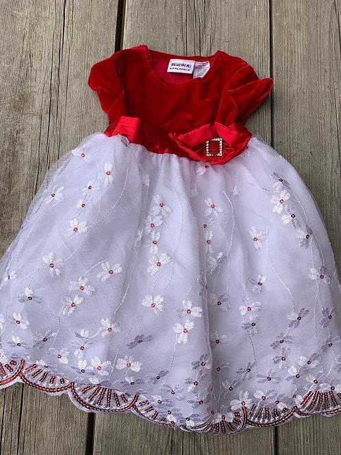 Size 24m BLUEBERI BLVD Red and White Dress