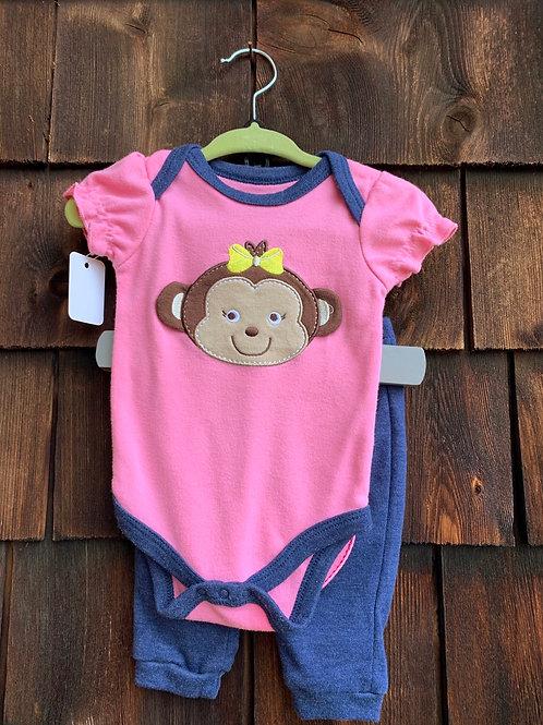 Size 0-3m KIDGETS Monkey Sweet Heart Outfit