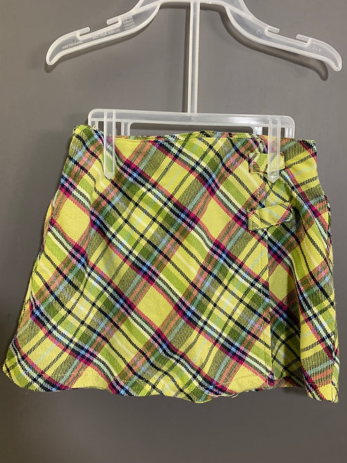 Size 18m CHILDREN'S PLACE Yellow Plaid Wrap Skirt