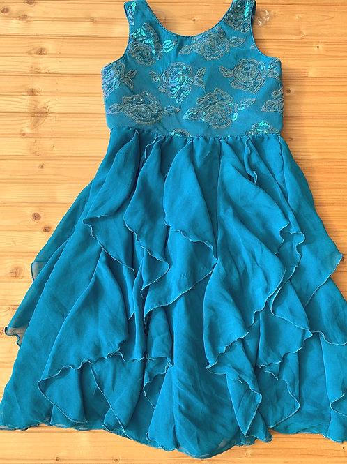 Size 14 Teal Ruffle Dress
