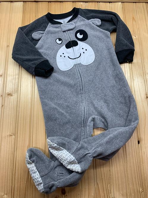 Size 12m CARTER'S Grey Puppy Fleece PJ
