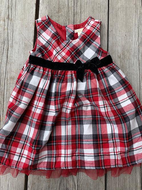 Size 2T Red Plaid Dress
