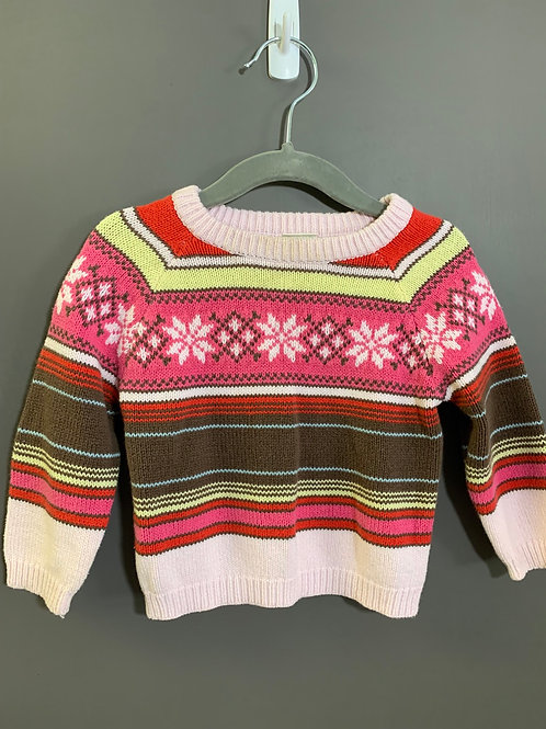 Size 12-18m OLD NAVY Striped Nordic Sweater