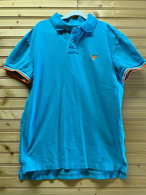 Size XS AMERICAN EAGLE Blue Polo Shirt, Used
