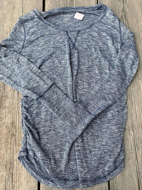 Size L Maternity LIZ LANGE Blue Grey Shirt