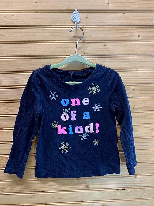 Size 3T OSHKOSH Snowflake Shirt, Used