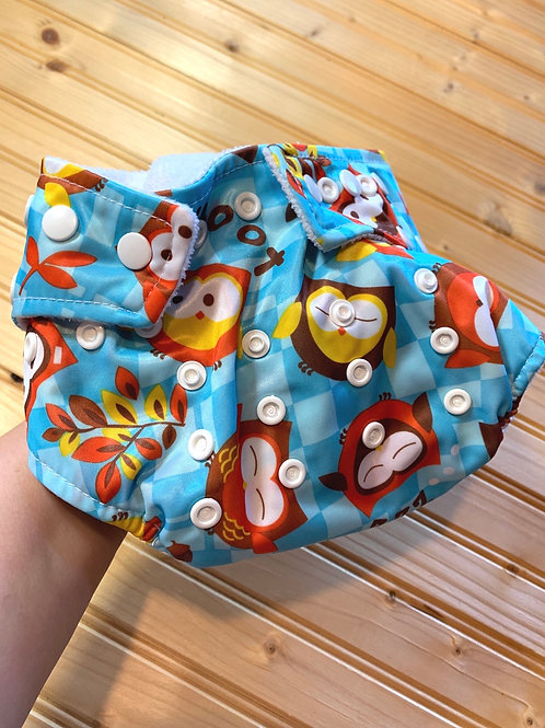 BUMKINS Owls All-in-One Cloth Diaper