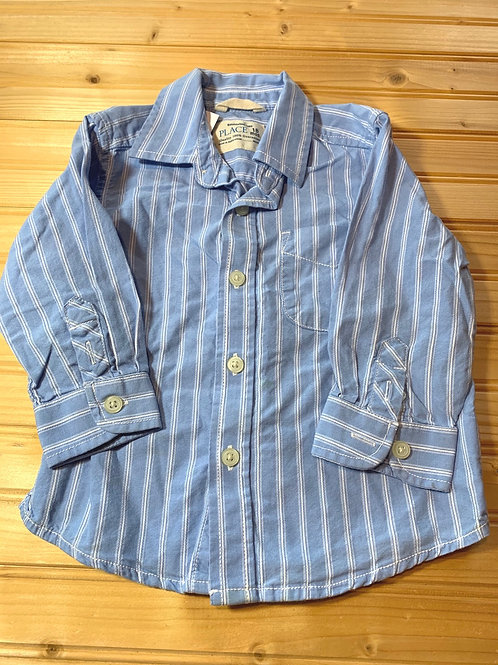 Size 18m CHILDREN'S PLACE Blue Striped Shirt, Used