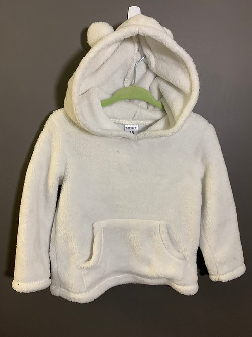 Size 18m CARTER'S Soft White Bear Ear Hoodie