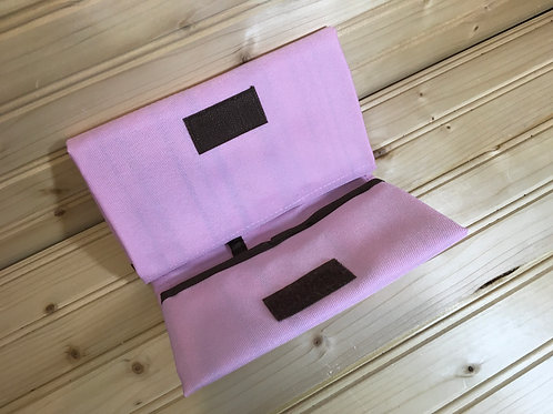 CHANGING PAD - Wipeable Portable Changing Pad Pink and Brown