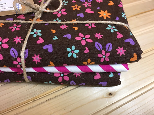 THE ROAD LESS TRAVELED - NEW 3 Burp Cloth Set - Flowers