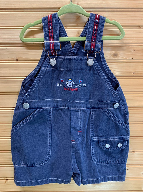 Size 18m Blue Dog Overalls