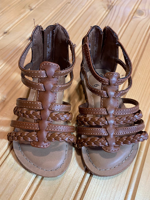 Size 6 Little Kid's Brown Sandals