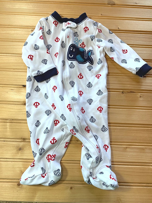 Size 0-3m Whale and Anchors Sleeper