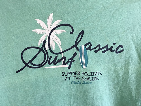 Size 8 Kids OKAIDI Green Classic Surf Tee