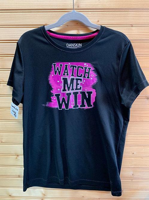 Size 14/16 DANSKIN Watch Me Win Shirt, Used