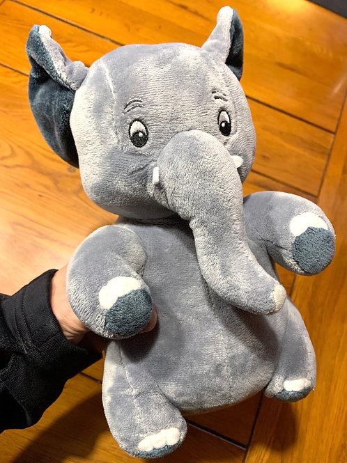 Plush Grey Elephant