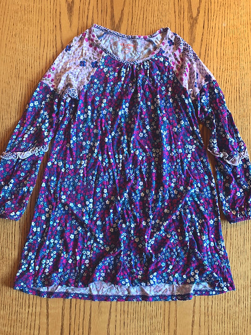 Size 7/8 JOE FRESH Purple Flower Tunic Dress, Used