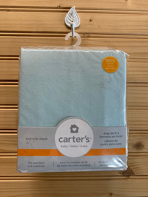 CARTER'S Blue Knit Crib Blanket, still in package