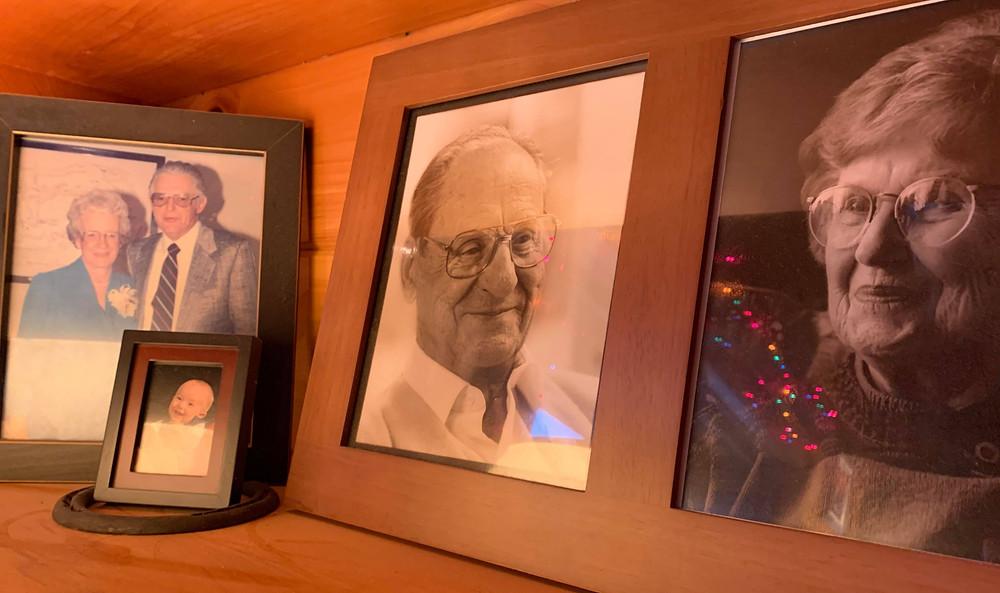 Photos of my grandparents.