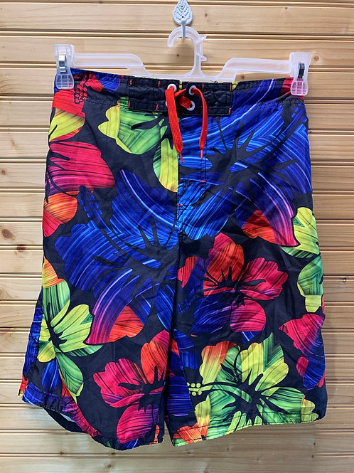 Size 14/16 JOE BOXER Hawaiian Swim Trunks, Used