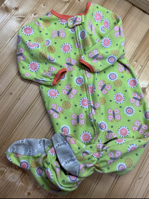 Size 18m KIDGETS Green Fleece Footie PJ