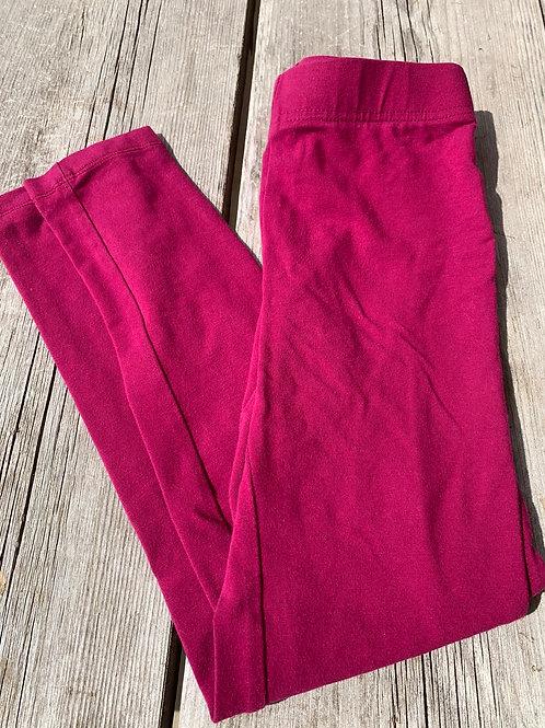 Size 7/8 Kids LANDS' END Magenta Leggings, Used