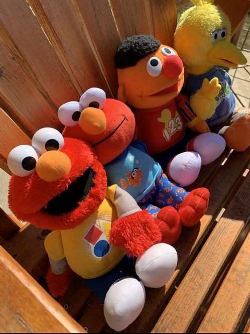 Plush Set of Musical Sesame Street Characters