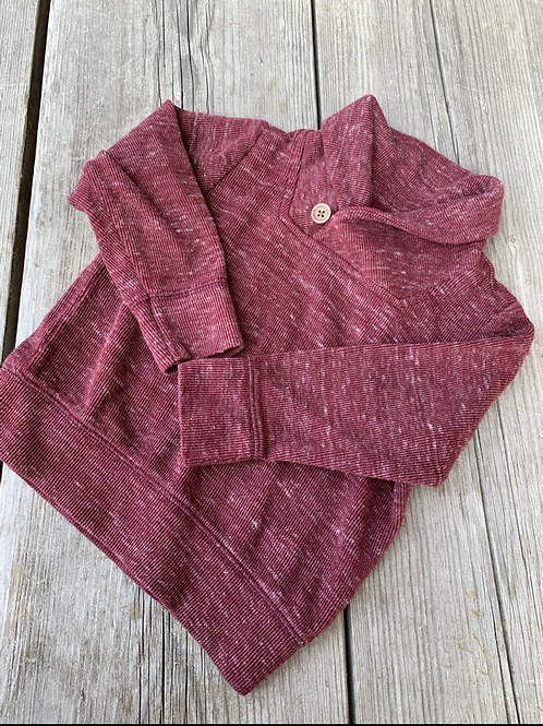 Size 2T OLD NAVY Maroon Jersey Knit Sweater