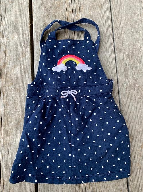 Size 24m CARTER'S Rainbow Overall Skirt